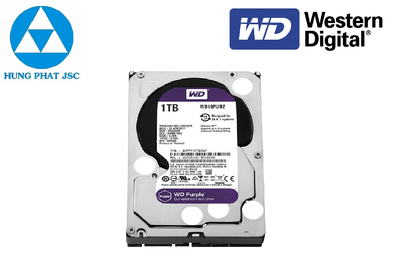WESTERN DIGITAL HDD PURPLE 1TB